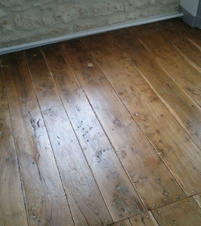 Vitrification plancher ancien de chêne