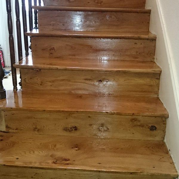 Vitrification escalier ormeau