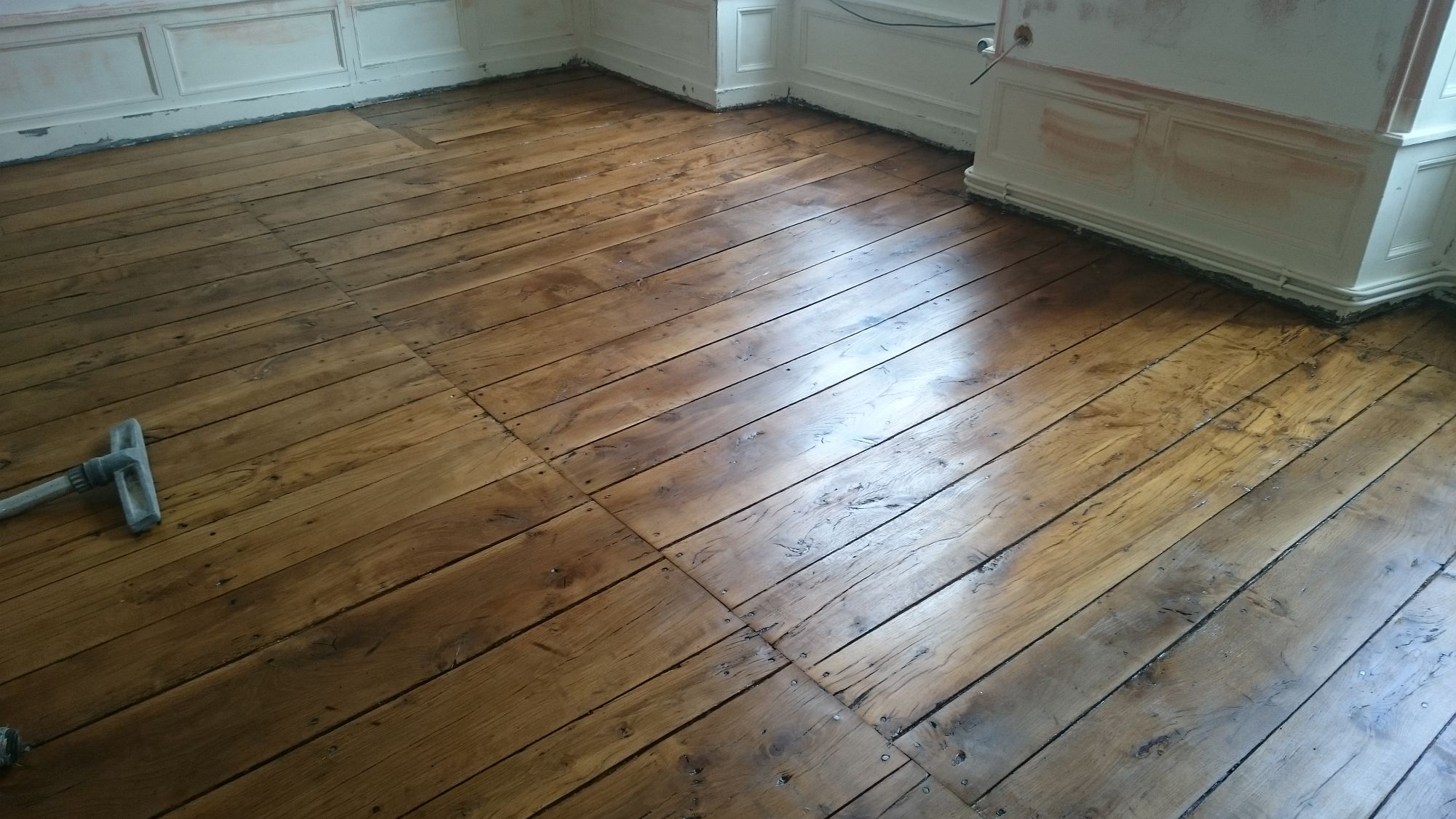 R novation plancher ch ne ancien angoul me charente 16 - Renovation parquet ancien ...